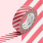 Masking Tape Rayures Rouge MT01D245Z