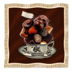 Foulard Hot Chocolate Bonjour Mon Coussin