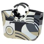 Sac Shopping Loopbag Graphic Noir Reisenthel